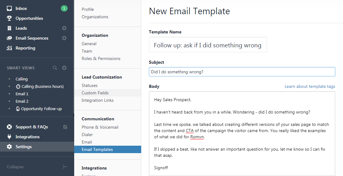 How to save an Art of Emails template in Closet